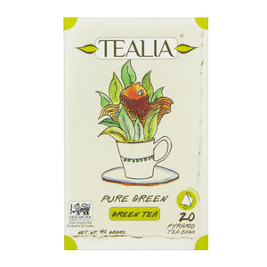 Tealia Pure Green 20 Pyramid Tea Bags