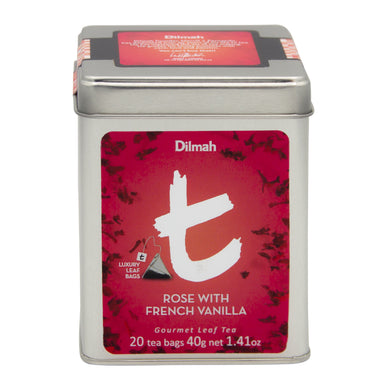 Dilmah t-series, Rose with French Vanilla Leaf Tea Bags |Ceylon Tea Store