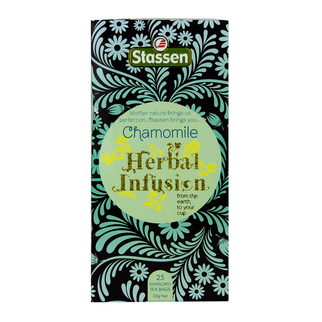 Stassen Chamomile Herbal Infusion Tea 25 enveloped tea bags