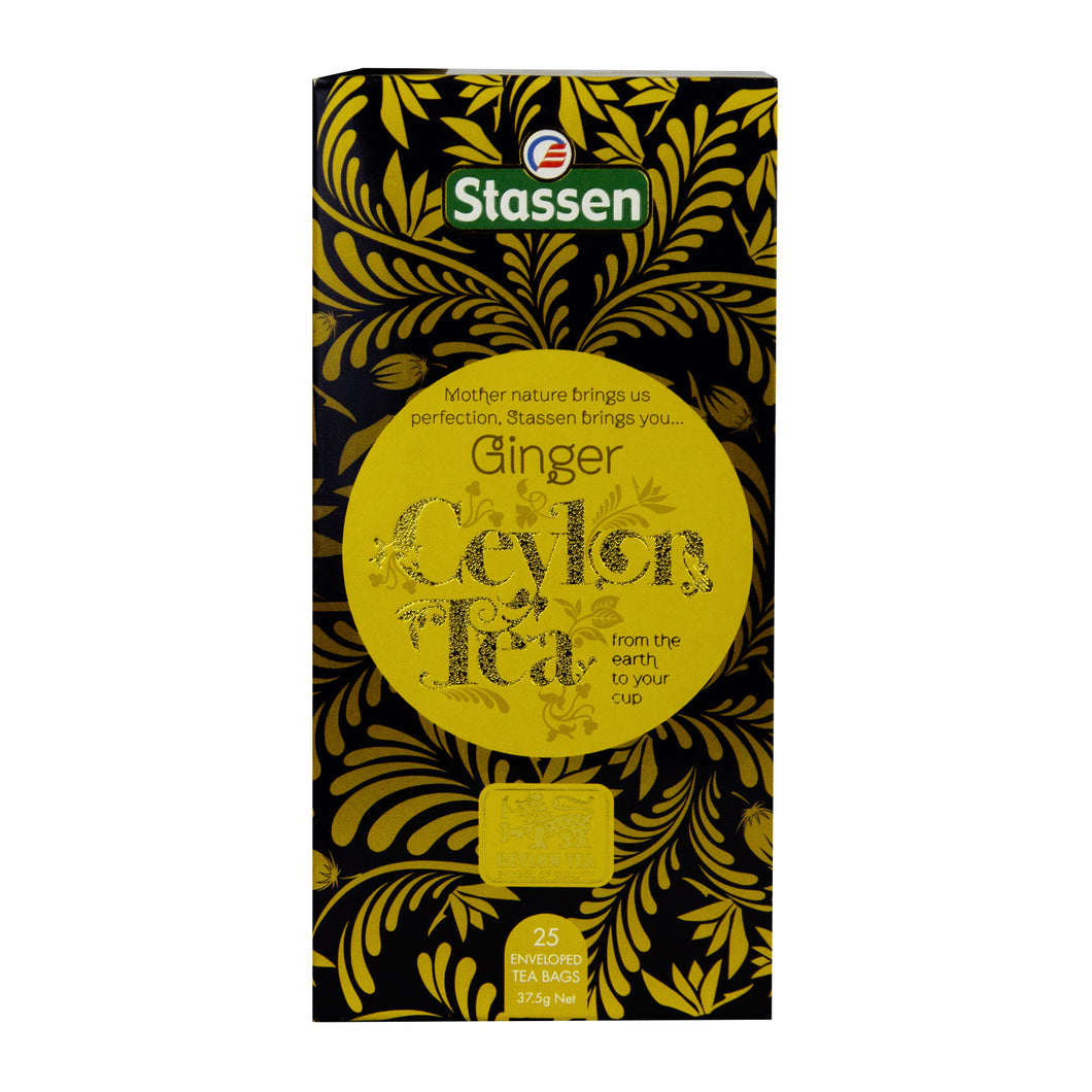 Stassen Ginger Tea 25 enveloped tea bags