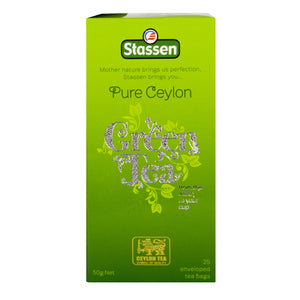 Stassen Pure Ceylon Green Tea 25 enveloped tea bags
