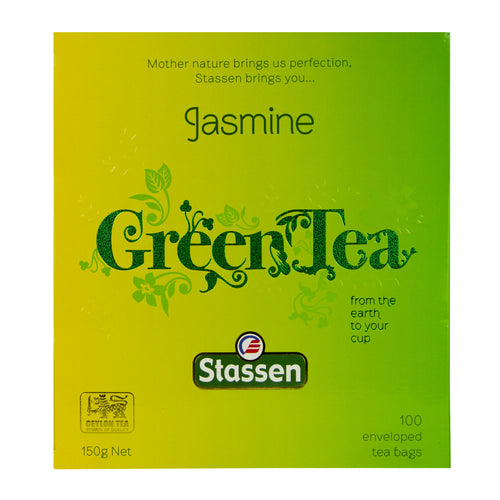 Stassen Jasmine Green Tea 100 enveloped tea bags