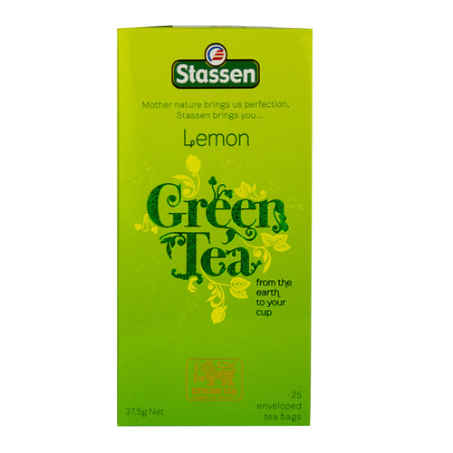 Stassen Lemon Green Tea 25 enveloped tea bags