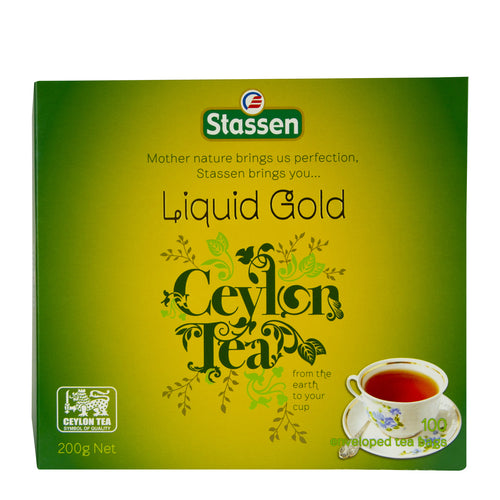 Stassen Liquid Gold Tea 100 enveloped tea bags