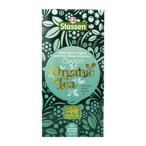 Stassen Organic Pure Ceylon Black Tea 25 enveloped tea bags