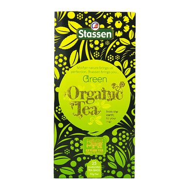 Stassen Organic Pure Ceylon Green Tea 25 enveloped tea bags