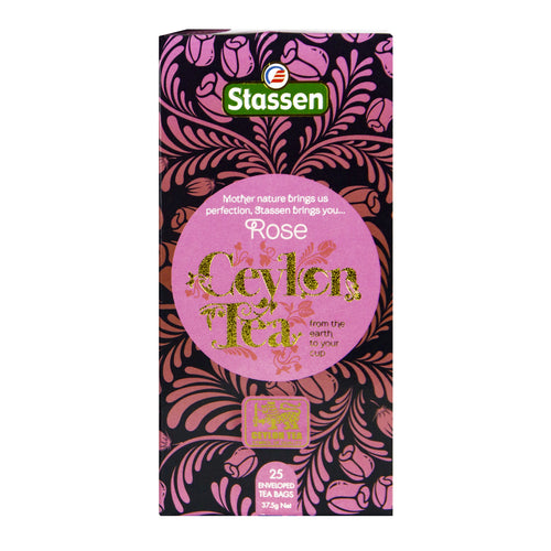 Stassen Rose Tea 25 enveloped tea bags | Ceylon Tea Store