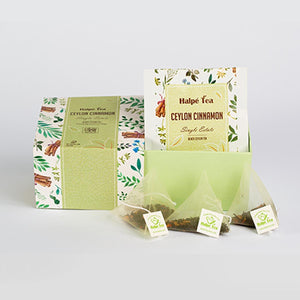 Halpe Cinnamon Luxury Enveloped Pyramid Teabag | Ceylon Tea Store