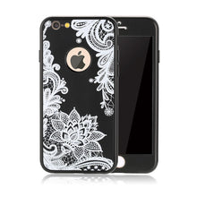 Luxury 360 Degree Full Body Cases Paisley Flower Floral Phone Cases Soft TPU Silicone Shell