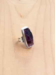 Amethyst Chunk Cigar Ring