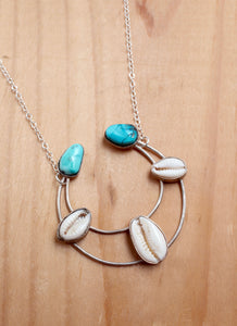 Cowrie Crescent Necklace