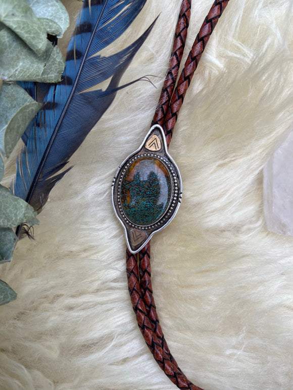 Sky Song Turquoise Bolo Tie