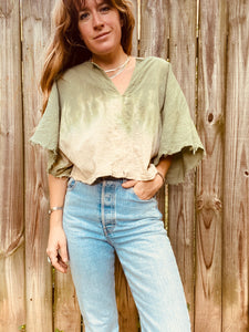 Alliene Boxy Top M/L- Sage