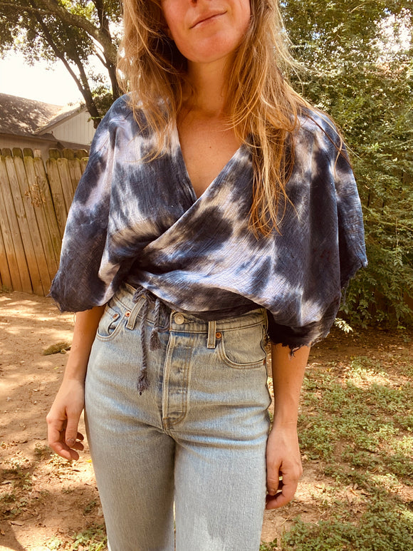 Sugaree Top- Indigo