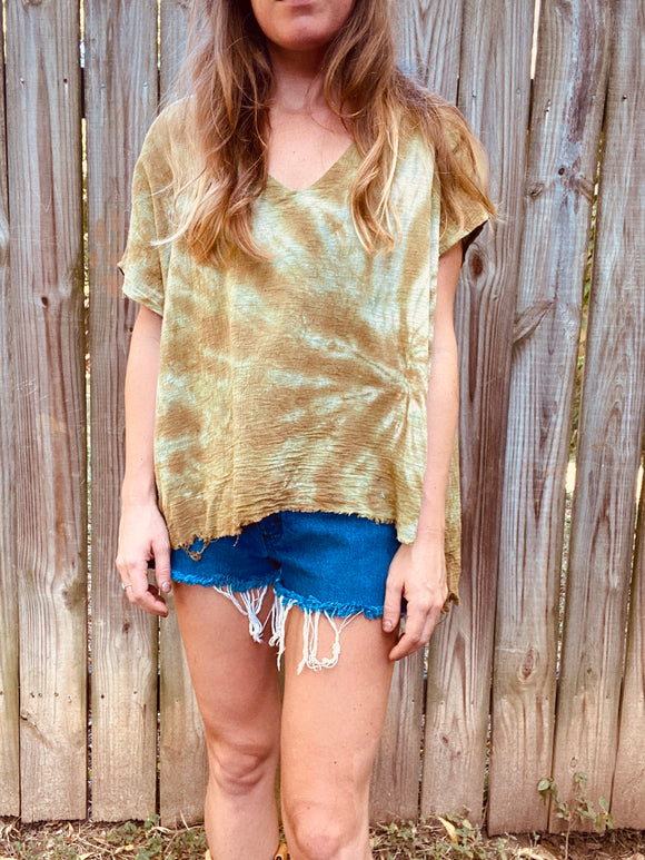 Buzzy Tunic- Olive