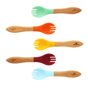 Avanchy Bamboo and Silicone Baby Forks