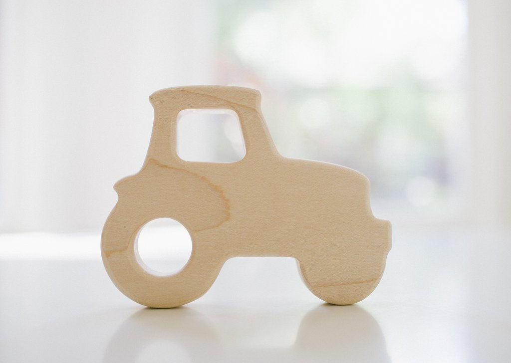 Bannor Toys Maple Wood Tractor Teether