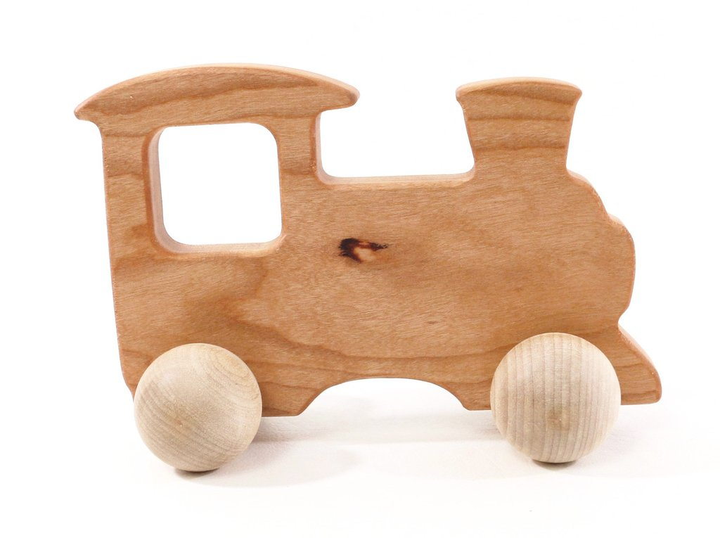 Bannor Toys Cherry Wood Push Toy Train – Arctic Baby Bottoms