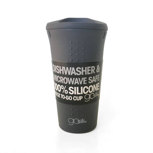 GoSili Silicone Travel Mug - 16 oz - Charcoal