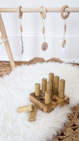 Clover and Birch Peg Puzzle Toy