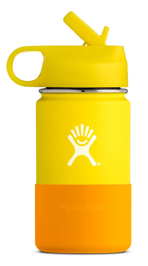 Hydro Flask 12 oz Kids Wide Mouth w/ Straw Lid - Lemon