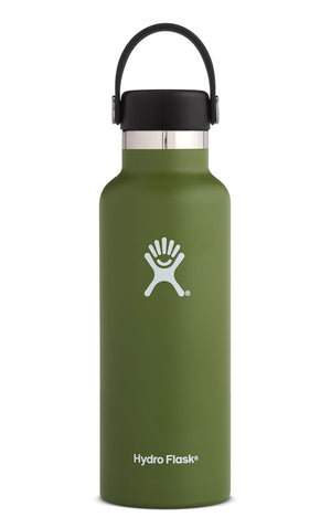 Hydro Flask 18 oz Standard Mouth w/ Flex Cap - Olive