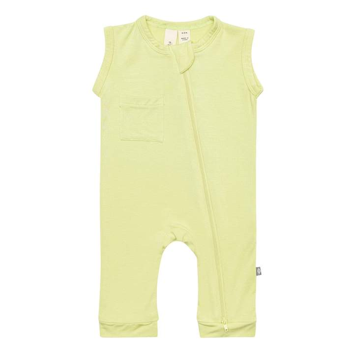 Kyte Baby Sleeveless Romper in Kiwi