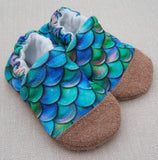 Snow and Arrow Cotton Knit Slippers - Size 6-12m