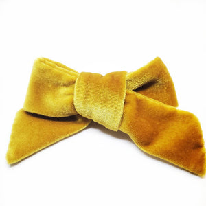 The Tiny Bow Shop Mustard Velvet Modern Headband