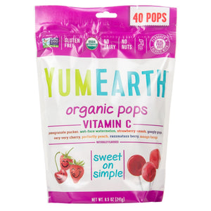 Yum Earth Organic Assorted Flavors Vitamin C Lollipops