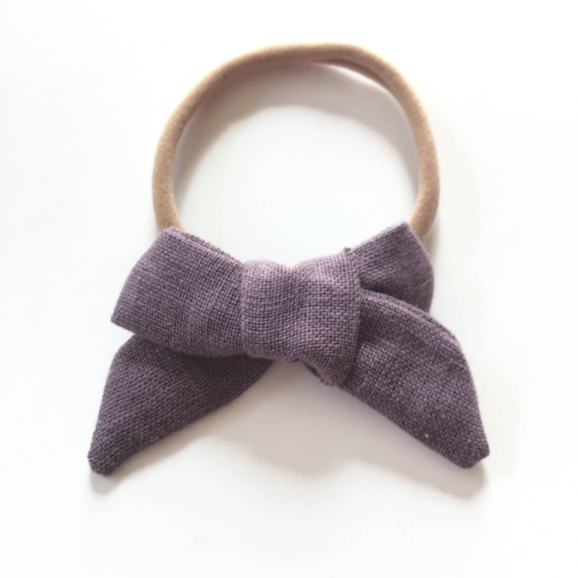 The Tiny Bow Shop Smoke Purple Organic Linen Headband