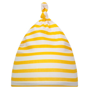 The Fresh Baby Knotted Hat - Marigold Stripe