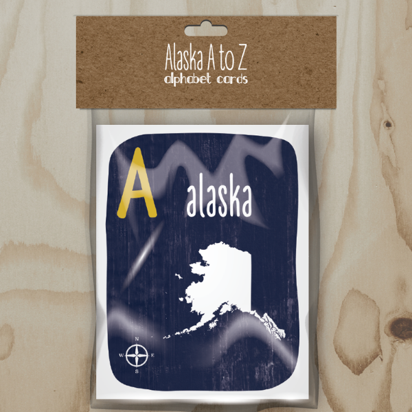 Wren and the Raven Alaska A to Z Alphabet Cards