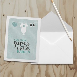 Wren and the Raven Super Cute Babies Card