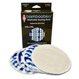 bamboobies Overnight Nursing Pads - FASHION EDITION: Shibori Blue - 2 Pairs