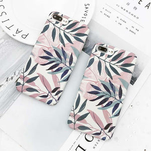 Art Leaf Print iPhone Case