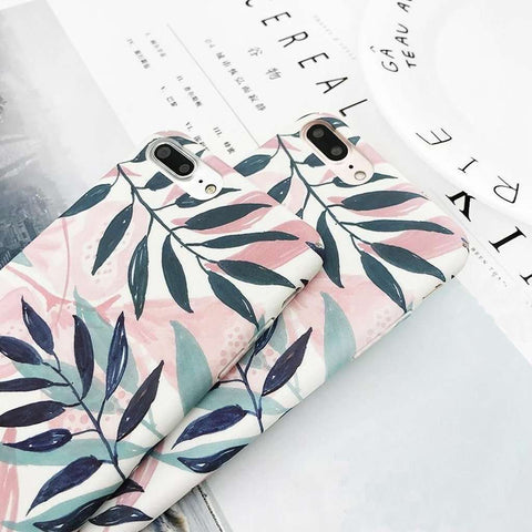 Art Leaf Print iPhone Case-Case Emporium NZ