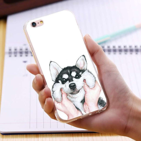 CHUBBY HUSKY IPHONE CASE-Case Emporium NZ