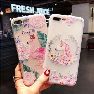 Flamingo, Unicorn And Deer iPhone Cases