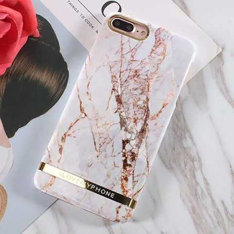 Glossy Marble iPhone Case-Case Emporium NZ