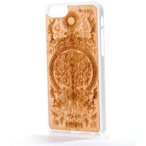 Handcrafted Birdseye Maple Wood Tree of Life iPhone and Samsung Case
