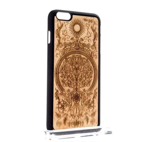 Handcrafted Birdseye Maple Wood Tree of Life iPhone and Samsung Case-Case Emporium NZ