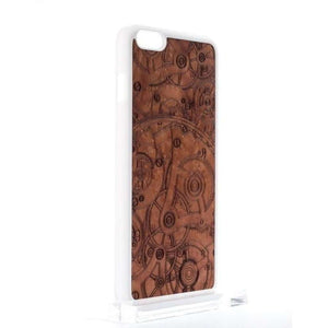 Handcrafted Madrona Burl Wood Mechanism iPhone and Samsung Case