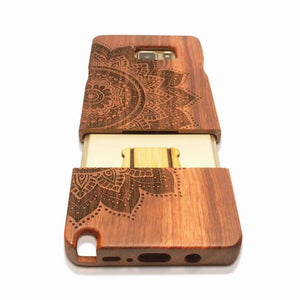 Natural Carved Wood Case