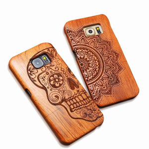 Natural Carved Wood Case-Case Emporium NZ