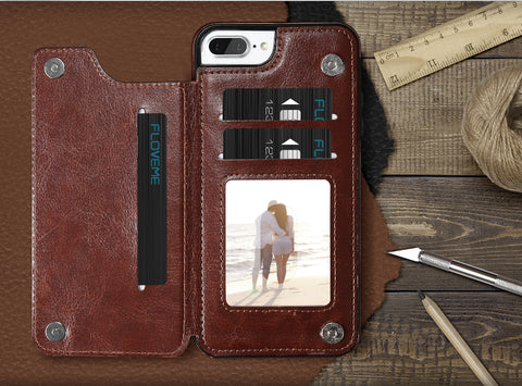 Executive Leather iPhone Wallet Case