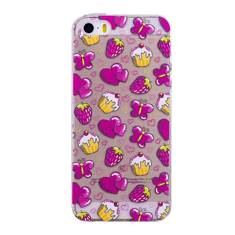 Cupcake and Heart Pattern iPhone Case
