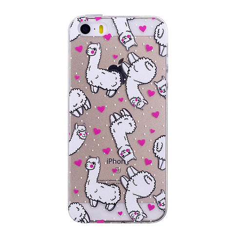 Cute Alpaca Cartoon Design iPhone Case