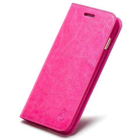 Image of Genuine Leather Flip Case For iPhone