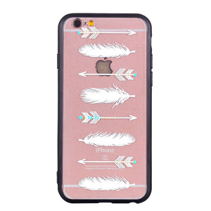 Arrowhead Feather Pattern iPhone Case